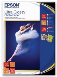EPSON Ultra Glossy Photo Paper, глянцевая, 13 x 18 см (127 x 178 мм), 300 г/кв.м (50 листов) (C13S041944)