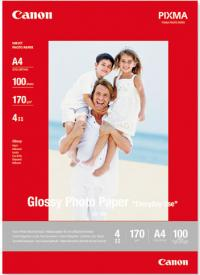CANON Бумага Everyday Use Glossy Photo Paper GP-501, глянцевая, A4 (210 x 297 мм), 200 г/кв.м (100 листов) (0775B001)
