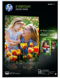 HP Бумага Everyday Glossy Photo Paper, глянцевая, A4 (210 x 297 мм), 200 г/кв.м (25 листов) (Q5451A)