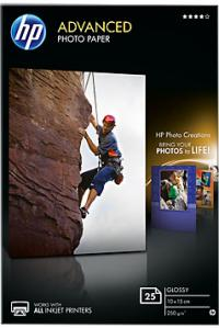 HP Бумага Advanced Glossy Photo Paper, глянцевая, 10 x 15 см (100 x 150 мм), 250 г/кв.м (25 листов) (Q8691A)