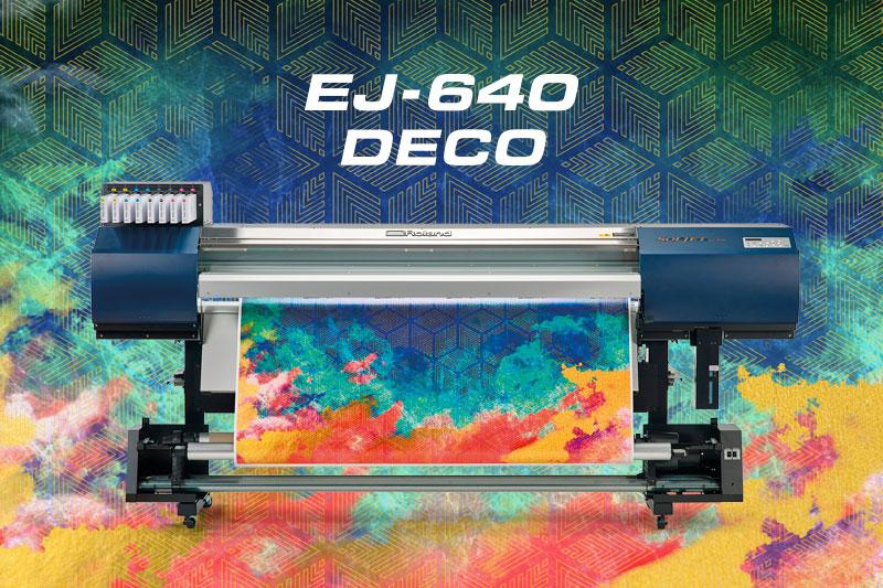 Новый экологичный принтер Roland EJ-640 DECO для интерьерной печати водными чернилами