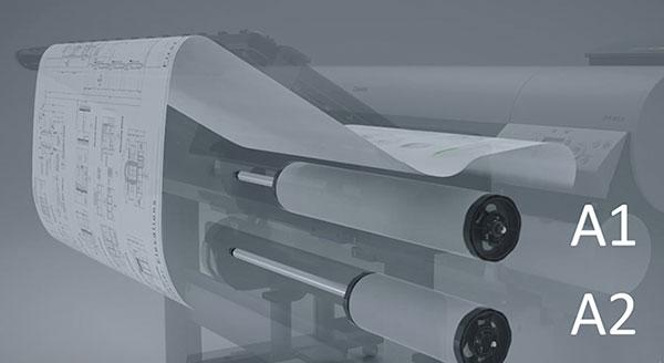 Выбор плоттера CAD/GIS для печати больших объемов. Количество рулонов