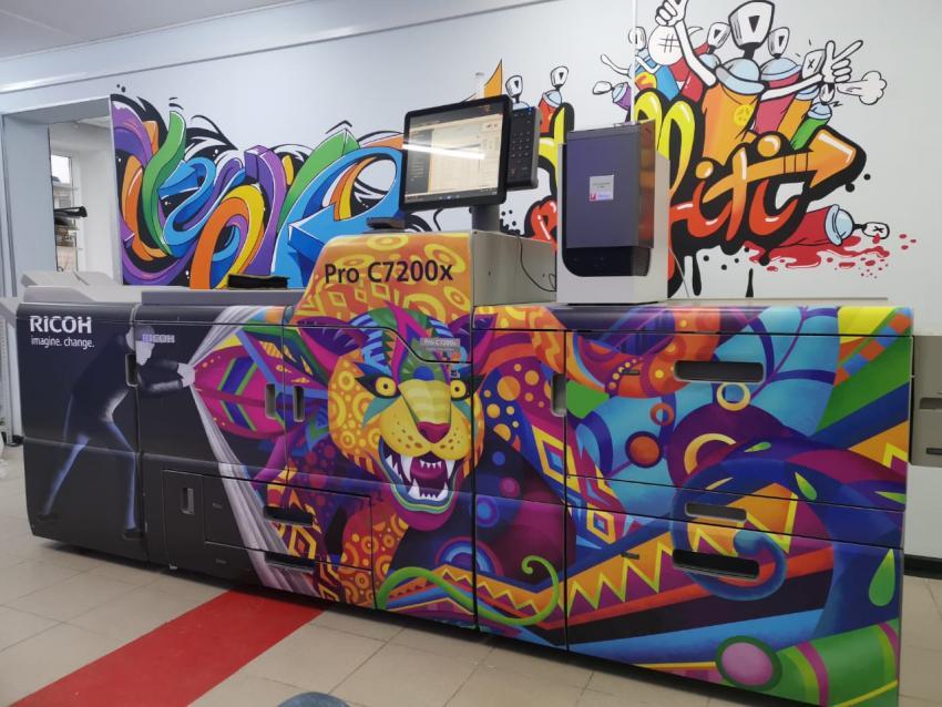 Ricoh PRO C7200x с полным набором дополнительных цветов в «Грейм»