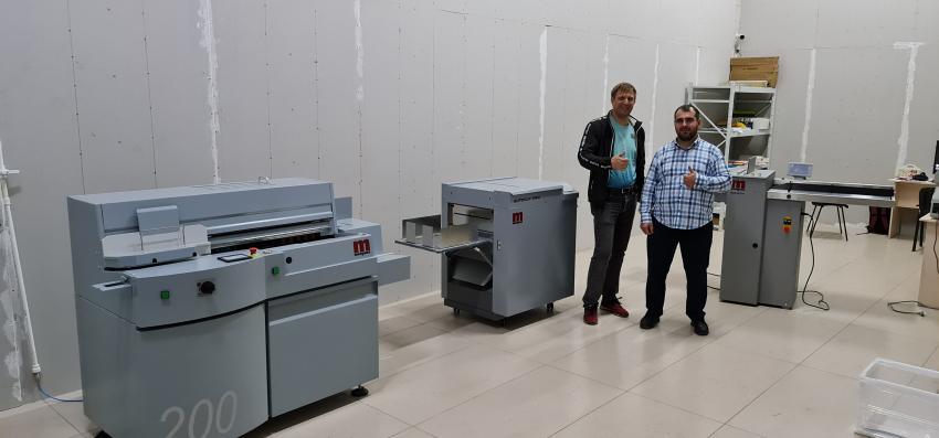 Три единицы оборудования Morgana позволили типографии AVEASA (Хасавюрт, Дагестан) обеспечить клиентов качественной полиграфической продукцией